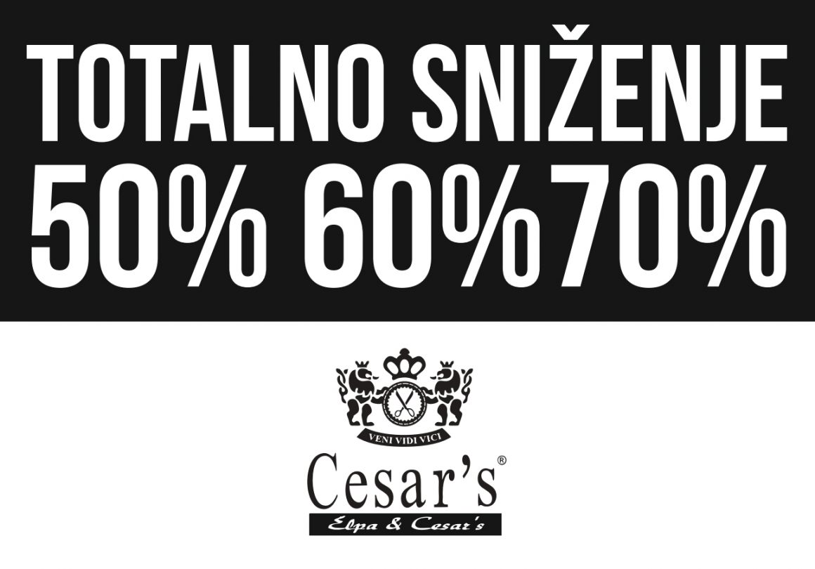 Totalno sniženje u Cesar's-u do 70%
