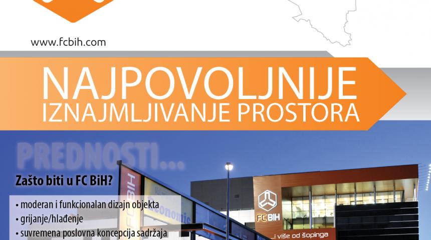 NAJPOVOLJNIJE IZNAJMLJIVANJE PROSTORA – Franšizni centar BiH