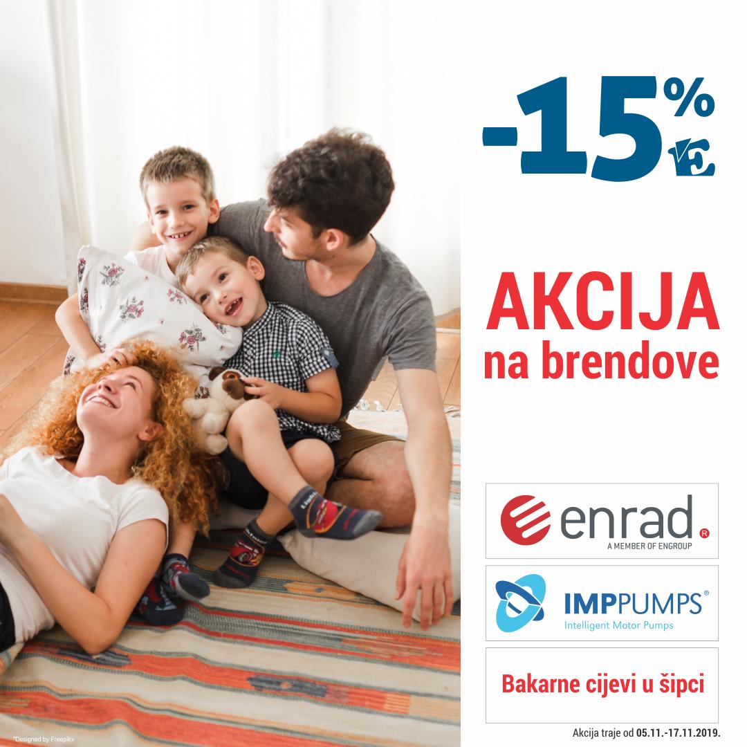 AKCIJA 15% TRI BRENDA