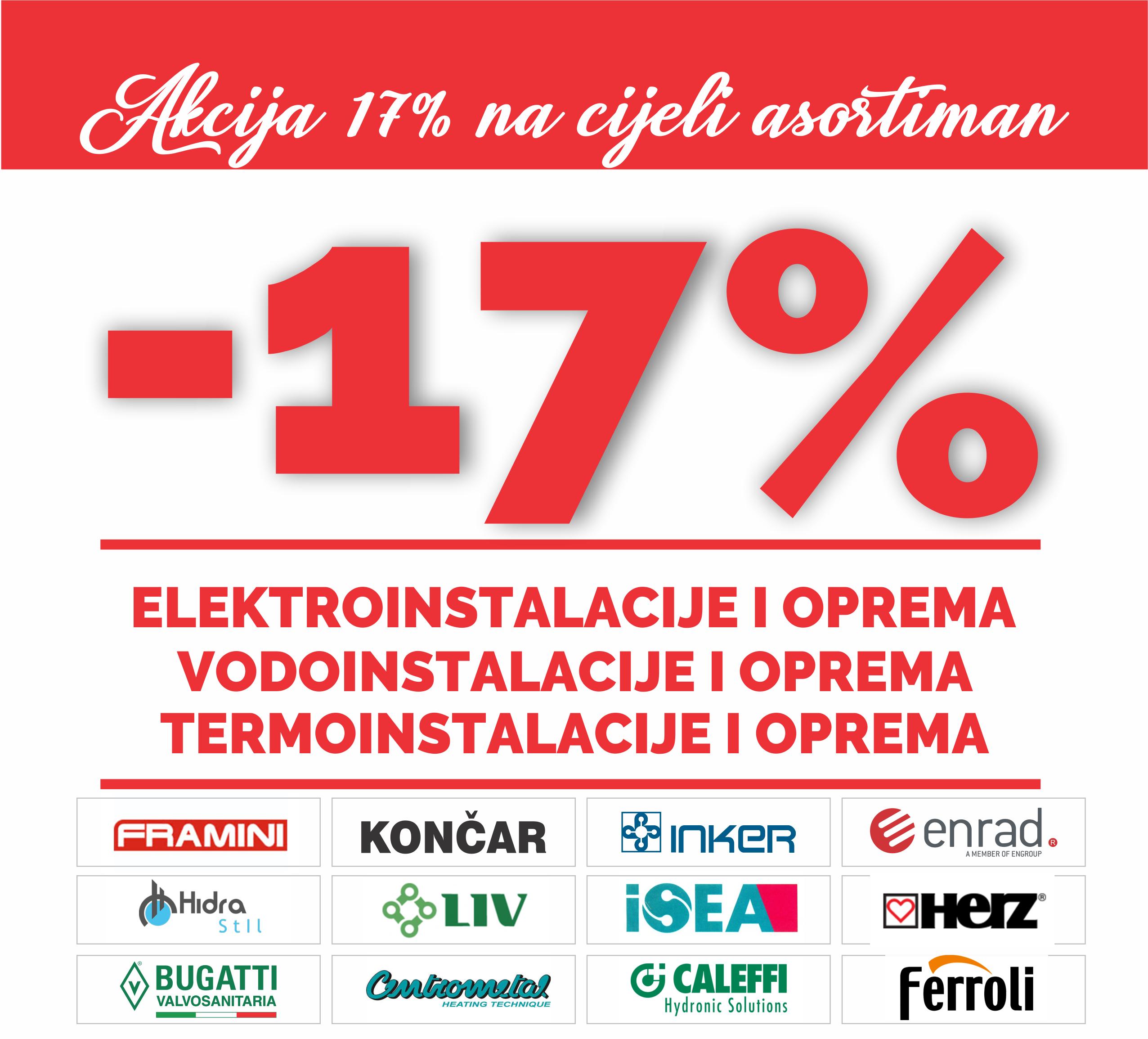 AKCIJA KOLOVOZ 17%